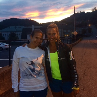 Beth and I in Boone, NC.  We were about 12 hours into the race at this point!